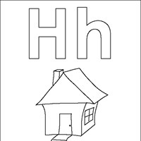 coloring letters h coloring page