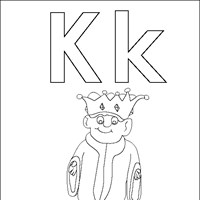 coloring letters k coloring page
