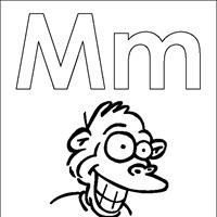 coloring letters m coloring page