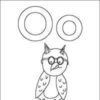 coloring letters o coloring page