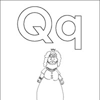 coloring letters q coloring page