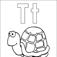 coloring letters t coloring page