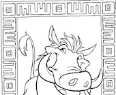 lion king pumbaa coloring page