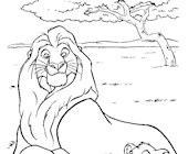 lion king simba mufasa coloring page