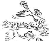 lion king simba running coloring page