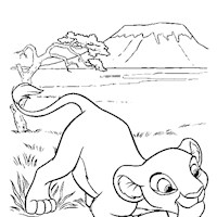 lion king simba coloring page