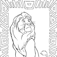 mufasa coloring page