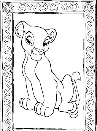 Free Printable Lion King Coloring Pages For Kids | 440x327