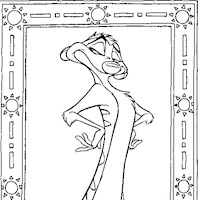 timon coloring page