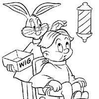 barber bugs coloring page
