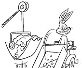 bugs bunny dump truck coloring page