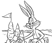 bugs bunny sand castle coloring page