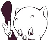 looney porky coloring page