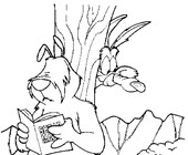 looney toons coyote coloring page