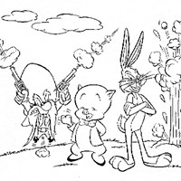 porky pig coloring page
