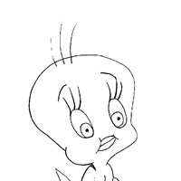 tweety confused coloring page