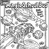 magic school bus space coloring page