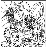 magic school bus spider coloring page