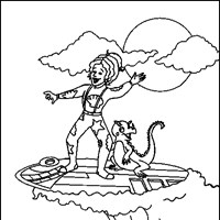 magic school bus surfing coloring page