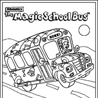 Magic School Bus Coloring Page magic school bus All Kids Network