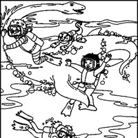magic school bus under water coloring page