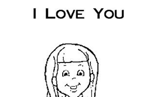 i love you mom coloring page