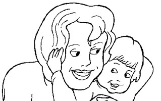 love mommy coloring page
