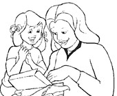 mothers day present coloring page