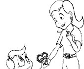 mothers day son coloring page