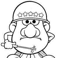 army potato head coloring page