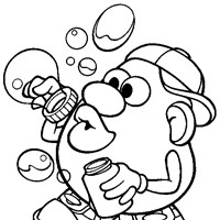 mr potato head bubbles coloring page