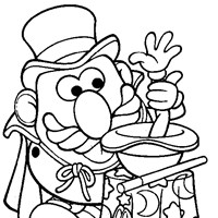 mr potato head magic coloring page