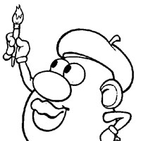 mr potato head painting coloring page