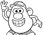 Mr Potatohead Coloring Pages All Kids Network