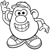 mr potato head wave coloring page