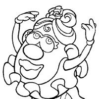 ms potato head coloring page