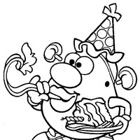 potato head party coloring page