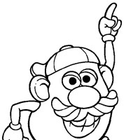 potato head pointing coloring page