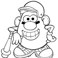 potato head sports coloring page