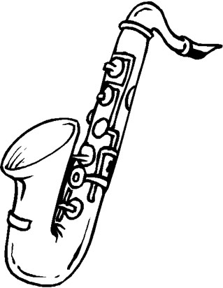 color saxophone coloring page