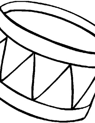 drum coloring coloring page