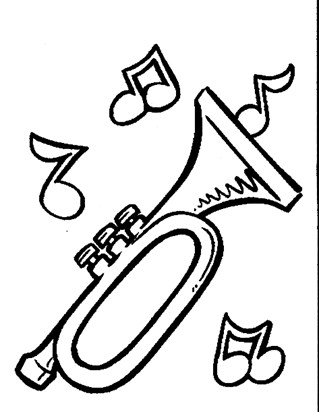 trumpet notes coloring coloring page