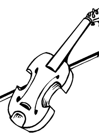 Music Instrument Coloring Page - GetColoringPages.com | 440x327