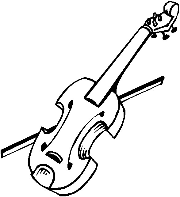 Musical Instruments Coloring Page Violin Coloring Page All Kids