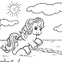 my little pony beach coloring page