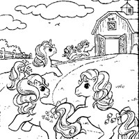 my little pony farm coloring page