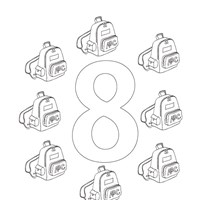number eight coloring page coloring page