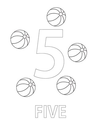 number five coloring page coloring page