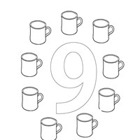 number nine coloring page coloring page