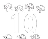 number ten coloring page coloring page